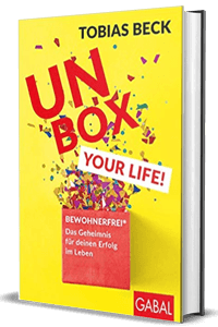 "Buch-Cover ""Unbox Your Live!"" von Tobias Beck"