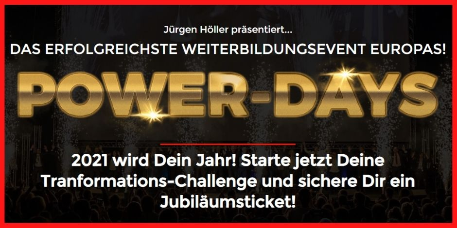 "Cover ""Power-Days-2020"" Jürgen Höller"